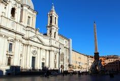 Piazza Navona, Rome. Arkivfoto