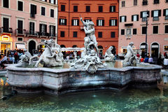 Piazza Navona in Rome Stock Photography