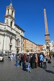 Piazza Navona, Rome Stock Afbeelding