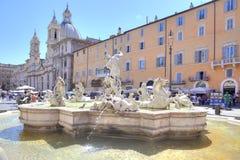 Piazza Navona rome Fotografia Royalty Free