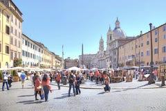 Piazza Navona rome Zdjęcia Royalty Free