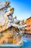 Piazza Navona, Rome i Italien royaltyfri fotografi