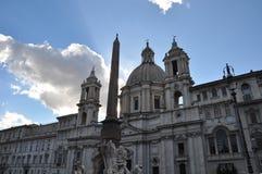 Piazza Navona - Rome, Italië Stock Foto's
