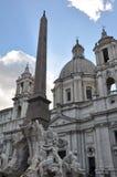 Piazza Navona - Rome, Italië Royalty-vrije Stock Afbeelding