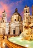 Piazza Navona, Rome Italië Royalty-vrije Stock Fotografie