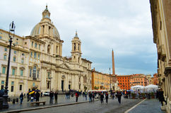 Piazza Navona in Rome - Italy royalty free stock photos