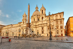 Piazza Navona in Rome Stock Photos