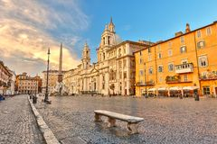 Piazza Navona in Rome. Italy stock image
