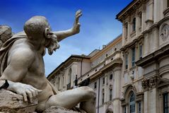 Piazza Navona in Rome,Italy Royalty Free Stock Photo