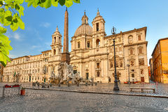 Piazza Navona in Rome. Italy stock photography