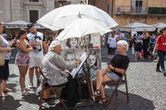 Piazza Navona, Rome. Stock Photography