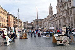Piazza Navona - Rome, Italy Royalty Free Stock Images