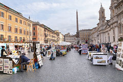 Piazza Navona - Rome, Italy Stock Photo