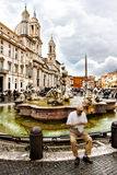 Piazza Navona in Rome (Italy) Stock Photo