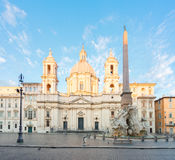 Piazza Navona, Rome, Italy. Church of Sant Agnese in Agone on Piazza Navona in Rome, Italy royalty free stock image