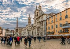 Piazza Navona in Rome. royalty free stock images