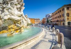 Piazza Navona, Rome, Italy, Europe. Rome ancient stadium for athletic contests. The Stadium of Domitian. Rome Navona Square is one of the best known landmarks royalty free stock photography