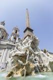 Piazza Navona in Rome, Italy Royalty Free Stock Photos
