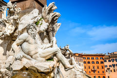 Piazza Navona, Rome in Italy Stock Photography