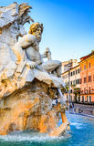 Piazza Navona, Rome in Italy. Rome, Italy. Fountain of the Four Rivers (Fontana dei Quattro Fiumi) with an Egyptian obelisk. Piazza Navona is one of the most royalty free stock photography