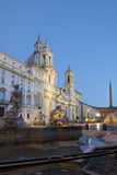 The Piazza Navona in Rome, Italy, by night Royalty Free Stock Photography