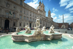 Piazza Navona, Rome. Italy Stock Photos