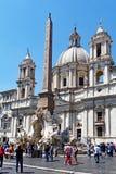 Piazza Navona, Rome, Lazio, Italië Royalty-vrije Stock Afbeeldingen