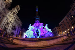 Piazza Navona in Rome at night Stock Photos