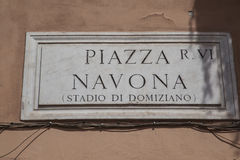 Piazza Navona, Rome. Royalty Free Stock Images