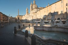Piazza Navona, Rome. View of Piazza Navona in the morning, Rome. Italy royalty free stock image
