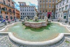 Piazza Navona, springbrunn för hed` s i Rome, Italien royaltyfri bild