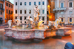 Piazza Navona Square in the morning, Rome, Italy. Stock Photography