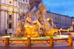 Piazza Navona Square in the morning, Rome, Italy. Stock Photos