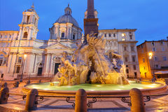 Piazza Navona Square in the morning, Rome, Italy. Stock Images