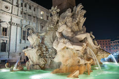 Piazza Navona. Statue on Rome - Piazza Navona royalty free stock photo