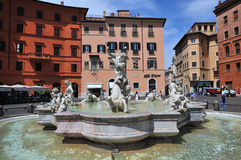 Piazza Navona at summer. Rome, Italy. Stock Photography