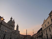 Sunset in Rome  Royalty Free Stock Image