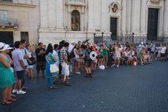 Piazza Navona, tłum, grupa społeczna, ludzie, festiwal Obrazy Stock