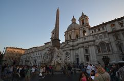 Piazza Navona, town square, sky, landmark, town. Piazza Navona is town square, town and building. That marvel has sky, city and tourist attraction and that royalty free stock photography