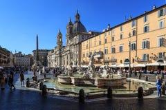 Piazza Navona widok Zdjęcia Stock