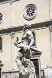 Piazza Navona z swój fontannami Bernini Porta w Rzym Włochy i Della Fotografia Stock