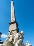 Piazza Navona z swój fontannami Bernini Porta w Rzym Włochy i Della Obrazy Stock