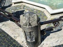 Piazza Navona z swój fontannami Bernini Porta w Rzym Włochy i Della Zdjęcia Stock