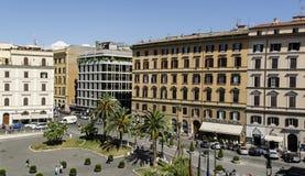 Piazza near IQ hotel Rome Royalty Free Stock Photos