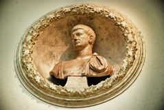 Bust emperor, Rome Italy Stock Image