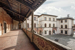 Piazza Ospitalieri, Lucca Royaltyfria Bilder