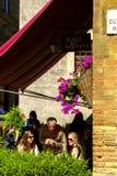 Piazza Pio II dans Pienza Toscane Photo libre de droits