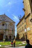 Piazza Pio II dans Pienza Toscane Photo stock