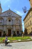 Piazza Pio II dans Pienza Toscane Image libre de droits