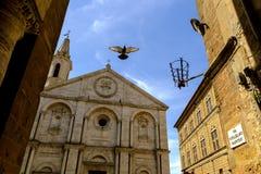 Piazza Pio II dans Pienza Toscane Images stock
